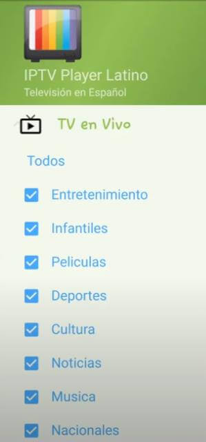 menu iptv playerlatino